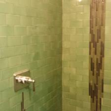 hand made tile shower