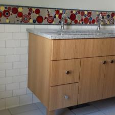 vanity and custom tile